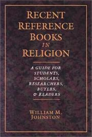 Cover of: Recent reference books in religion