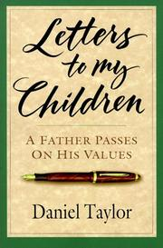 Cover of: Letters to My Children