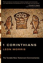 The First epistle of Paul to the Corinthians by Leon Morris