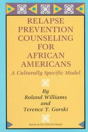 Cover of: Relapse prevention counseling for African-Americans