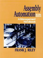 Cover of: Assembly automation