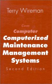 Cover of: Computerized maintenance management systems