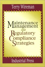 Cover of: Maintenance Management and Regulatory Compliance Strategies