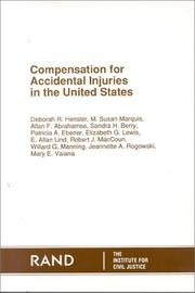 Compensation for accidental injuries in the United States by