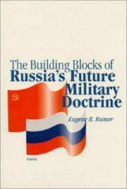 Cover of: The building blocks of Russia's future military doctrine