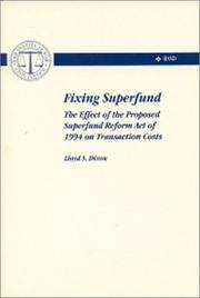 Cover of: Fixing Superfund