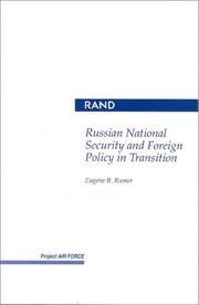 Cover of: Russian national security and foreign policy in transition