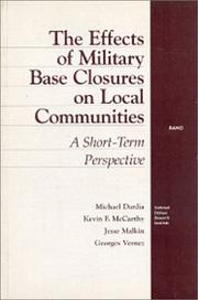 Cover of: The Effects of Military Base Closures on Local Communities