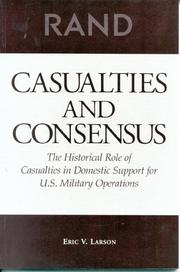 Cover of: Casualties and consensus