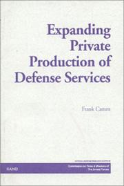 Cover of: Expanding private production of defense services