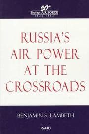 Cover of: Russia's air power at the crossroads