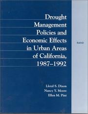 Cover of: Drought management policies and economic effects on urban areas of California, 1987-1992