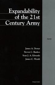 Cover of: Expandability of the 21st Century Army