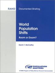 Cover of: World population shifts