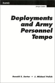 Cover of: Deployments and Army Personnel Tempo