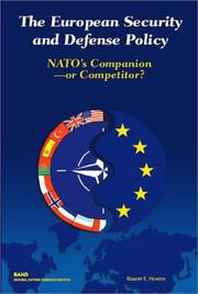 Cover of: The European Security and Defense Policy