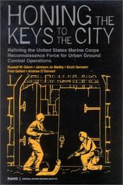 Cover of: Honing the Keys to the City