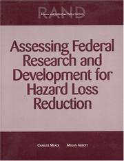 Cover of: Assessing Federal Research and Development for Hazard Loss Reduction | Charles Meade