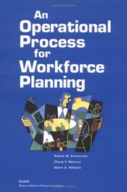 Cover of: An Operational Process for Workforce Planning | Robert M. Emmerichs