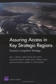 Cover of: Toward a Long-Term Strategy for Assuring Access in Key Straegic Regions