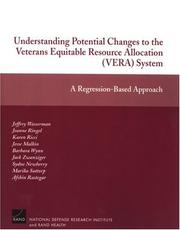 Cover of: Understanding Potential Changes to the Veterans Equitable Resource Allocation System | Jeffrey Wasserman