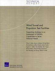 Cover of: Wind Tunnel and Propulsion Test Facilities | Philip S. Anton