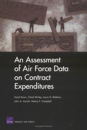Cover of: An Assessment of Air Force Data on Contract Expenditures