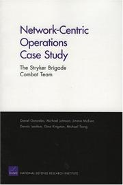 Cover of: Network Centric Operations Case Study | Dan Gonzales