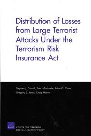 Cover of: Distribution of losses from large terrorist attacks under the Terrorism Risk Insurance Act