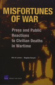 Cover of: Misfortunes of war