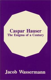 Cover of: Caspar Hauser