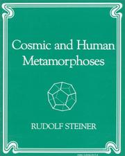Cover of: Cosmic and Human Metamorphoses | Rudolf Steiner