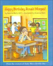Cover of: Happy Birthday, Ronald Morgan! | Patricia Reilly Giff