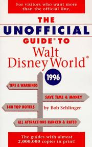Cover of: The Unofficial Guide to Walt Disney World & Epcot 1996 (Serial)