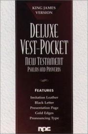 Cover of: Deluxe Vest-Pocket New Testament with Psalms and Proverbs |