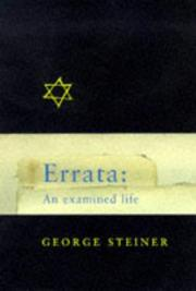 Cover of: Errata: an examined life