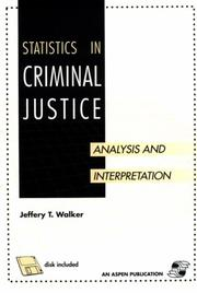 Cover of: Statistics in Criminal Justice