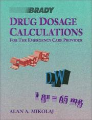 Cover of: Drug dosage calculations