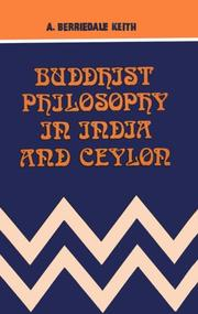 Cover of: Buddhist Philosophy in India and Ceylon