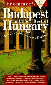 Frommer's Budapest & the Best of Hungary by Joseph S. Lieber, Erzsebet Barat