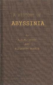 Cover of: A history of Abyssinia