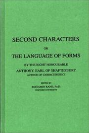 Cover of: Second characters