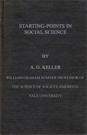 Cover of: Starting-points in social science
