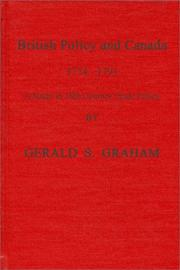 Cover of: British policy and Canada, 1774-1791
