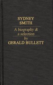 Cover of: Sydney Smith; a biography & a selection