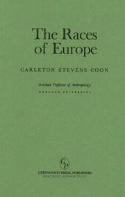 The races of Europe by Carleton Stevens Coon