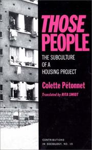 Cover of: Those people | Colette Pétonnet