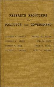 Cover of: Research frontiers in politics and government |