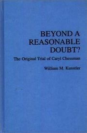 Cover of: Beyond a reasonable doubt?