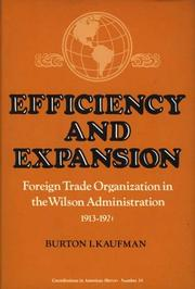 Cover of: Efficiency and expansion | Burton Ira Kaufman